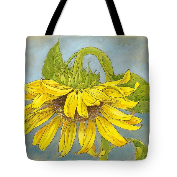 Big Sunflower Tote Bag by Tracie Thompson