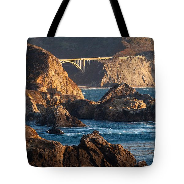 Big Sur Coastal Serenity Tote Bag by Mike Reid