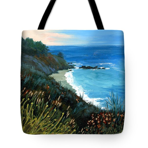 Big Sur Coastline Tote Bag by Alice Leggett