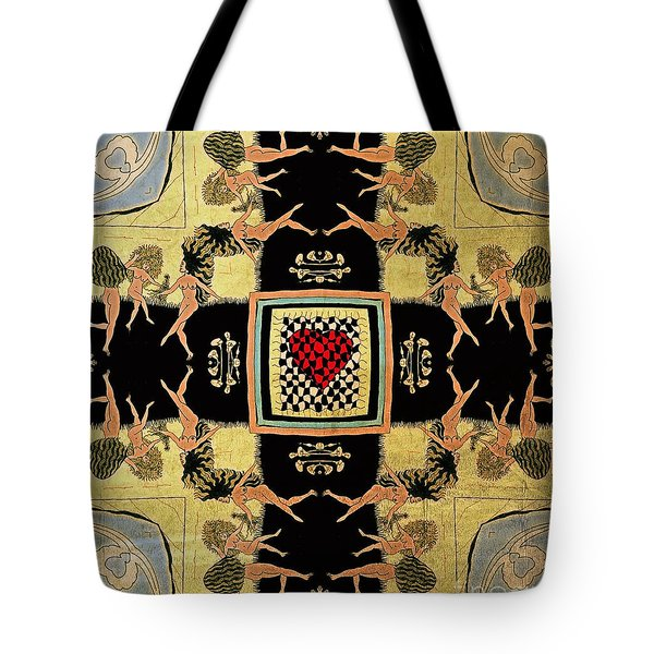 Tote Bag featuring the drawing Big Sur Party X 4 by Joseph J Stevens