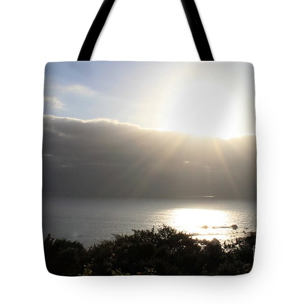 Big Sur Sunset Tote Bag by Linda Woods