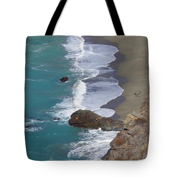 Tote Bag featuring the photograph Big Sur Surf by Art Block Collections