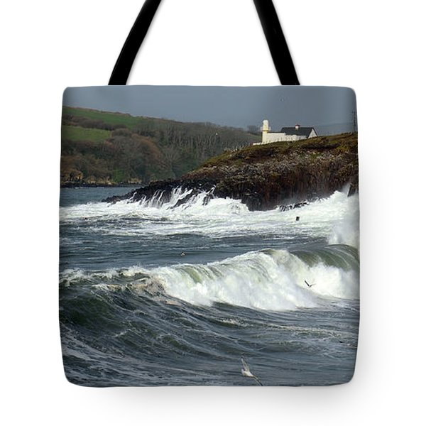 Big Swell In Dingle Bay Tote Bag by Barbara Walsh