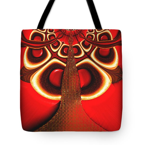 Big Tree From The Red Forest Tote Bag
