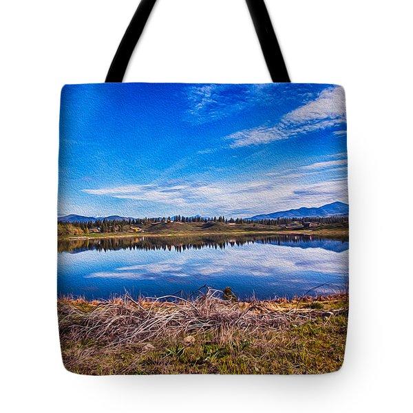 Big Twin Lake Tote Bag by Omaste Witkowski