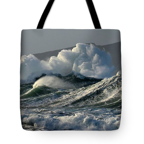 Big Waves At Clogher Beach Tote Bag by Barbara Walsh