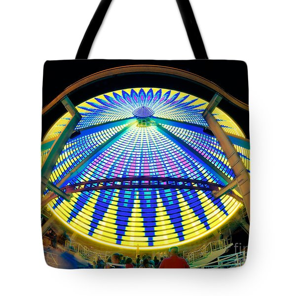 Big Wheel Keep On Turning Tote Bag by Mark Miller