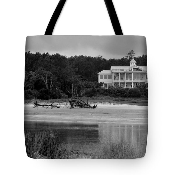 Big White House Tote Bag by Cynthia Guinn