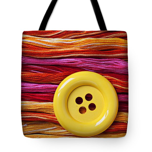 Big Yellow Button  Tote Bag by Garry Gay