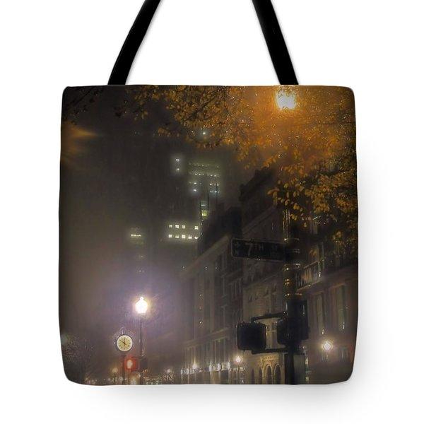 Tote Bag featuring the photograph Bigga Mist by Robert McCubbin
