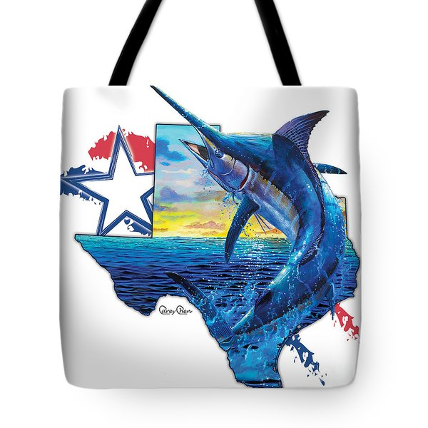 Bigger In Texas Tote Bag by Carey Chen