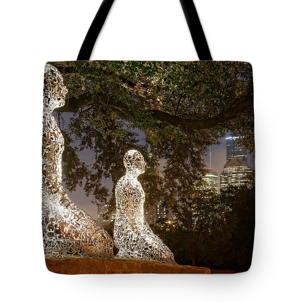 Bigger Than The Sum Of Our Parts - Tolerance Sculptures Downtown Houston Texas Tote Bag