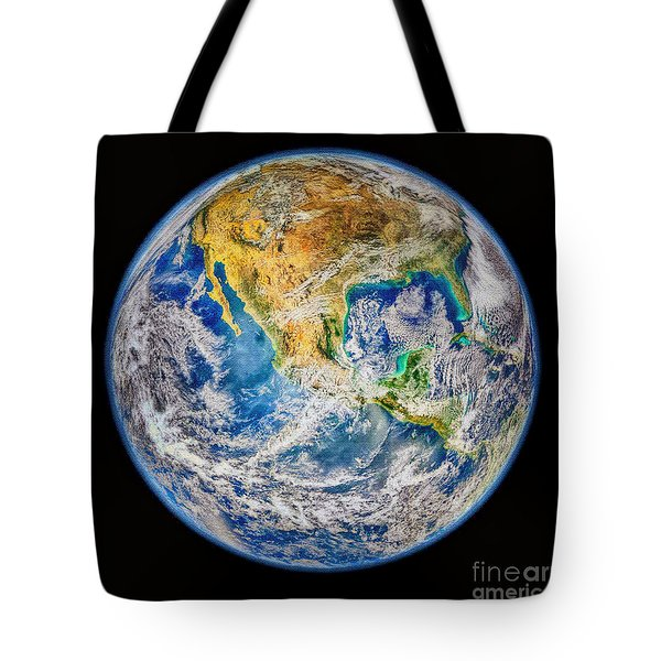 Biggest Image Of Earth Ever N. A. S. A Tote Bag by Bob and Nadine Johnston