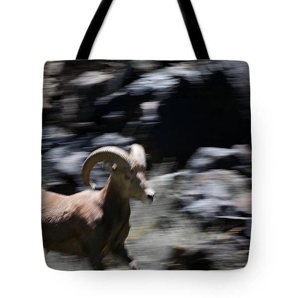 Bighorn Blur Tote Bag by Britt Runyon
