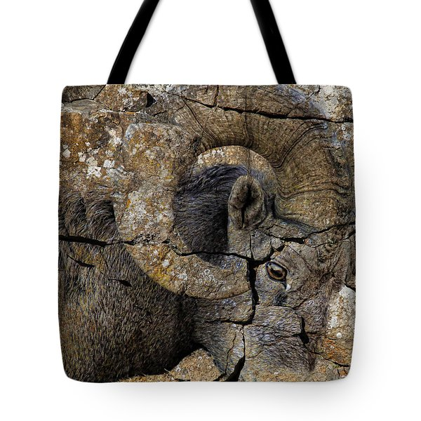 Bighorn Rock Art Tote Bag by Steve McKinzie