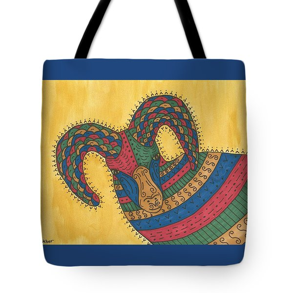 Tote Bag featuring the painting Bighorn Sheep by Susie Weber