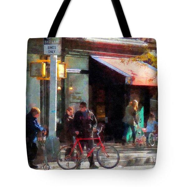 Bike Lane Tote Bag by Susan Savad