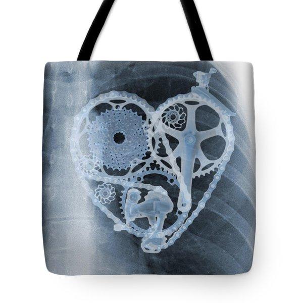 bike lover X-ray Tote Bag by Sassan Filsoof