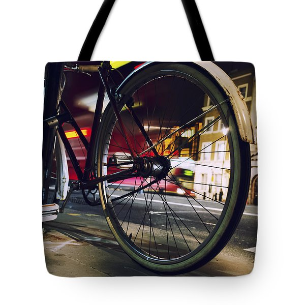Bike On Whitehall  Tote Bag