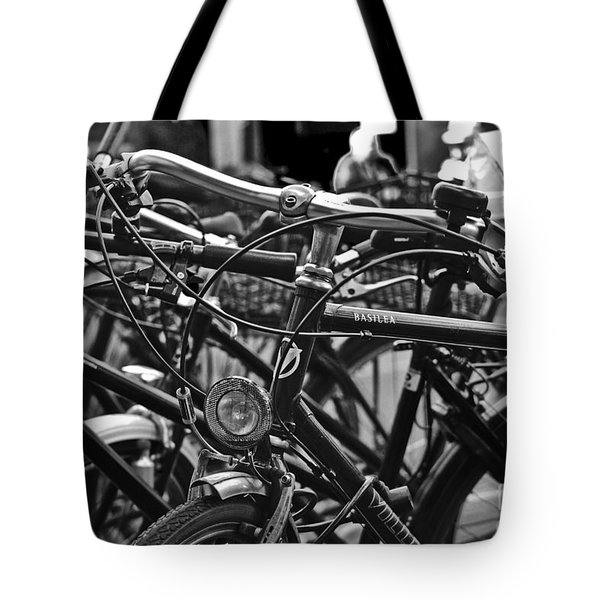 Bike Parking In Switzerland Tote Bag