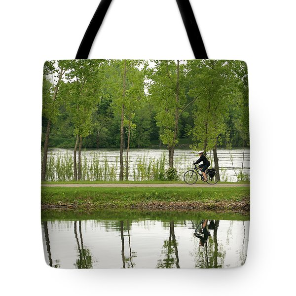 Bike Path Tote Bag