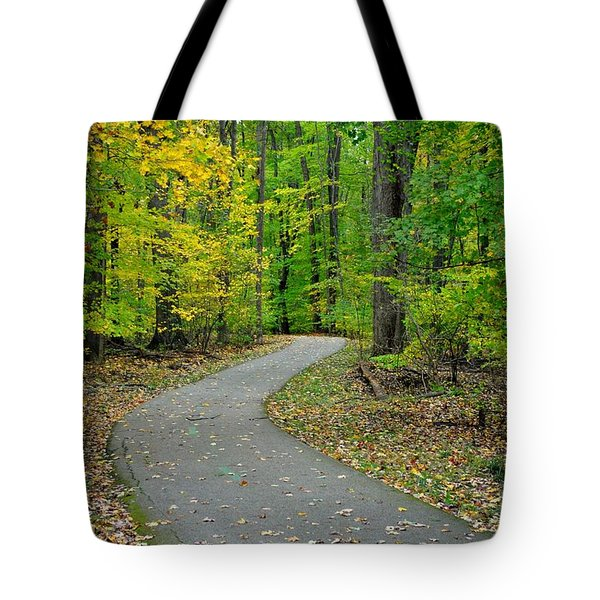 Bike Path Tote Bag by Frozen in Time Fine Art Photography