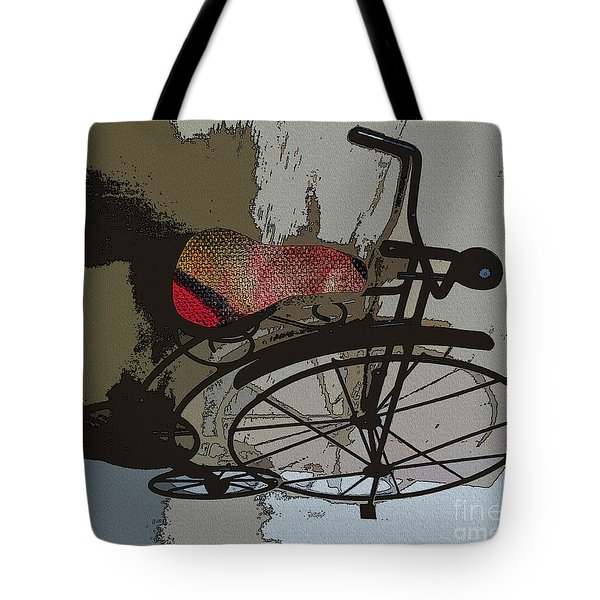 Bike Seat View Tote Bag