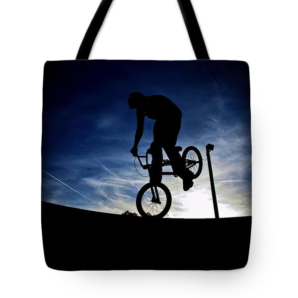 Bike Silhouette Tote Bag
