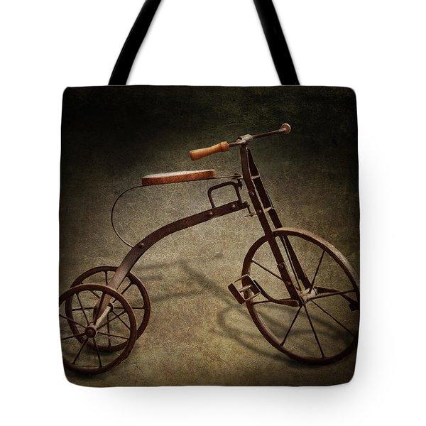 Bike - The Tricycle  Tote Bag by Mike Savad