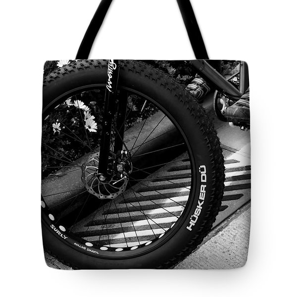 Bike Tire Tote Bag