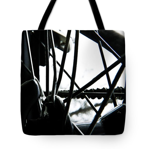 Bike Wheel Tote Bag