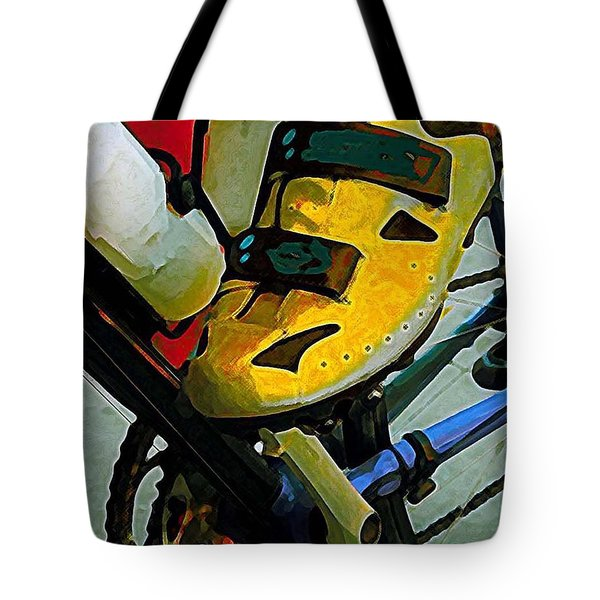 Biker Boy Foot Tote Bag