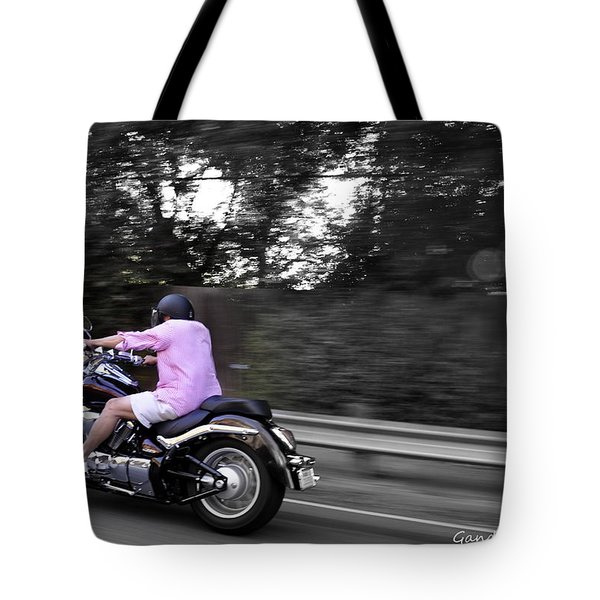 Biker Tote Bag by Gandz Photography