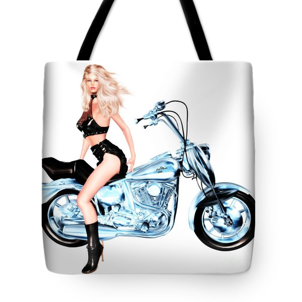 Biker Girl Tote Bag by Renate Janssen