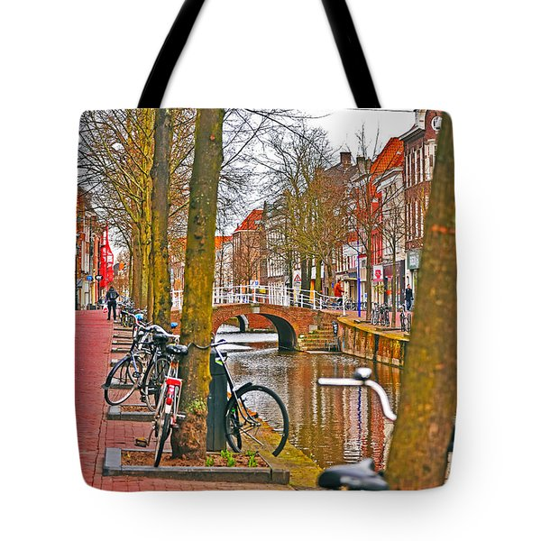 Bikes And Canals Tote Bag