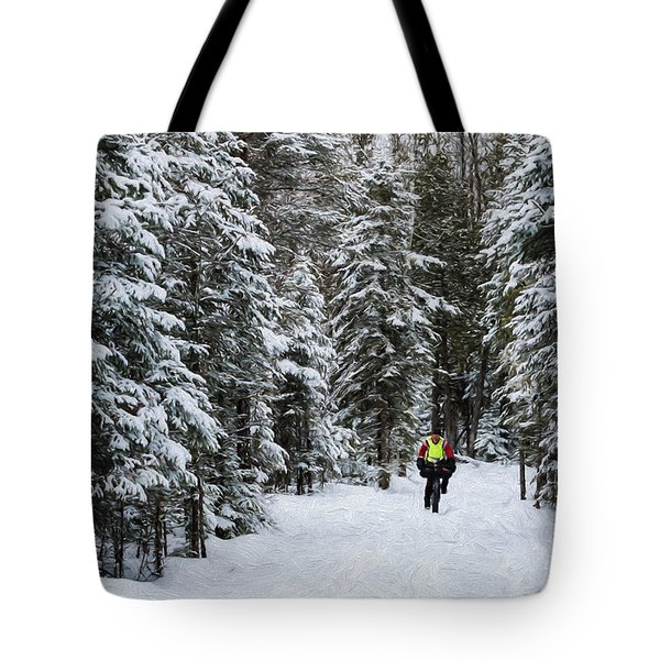 Biking The Wilderness Tote Bag