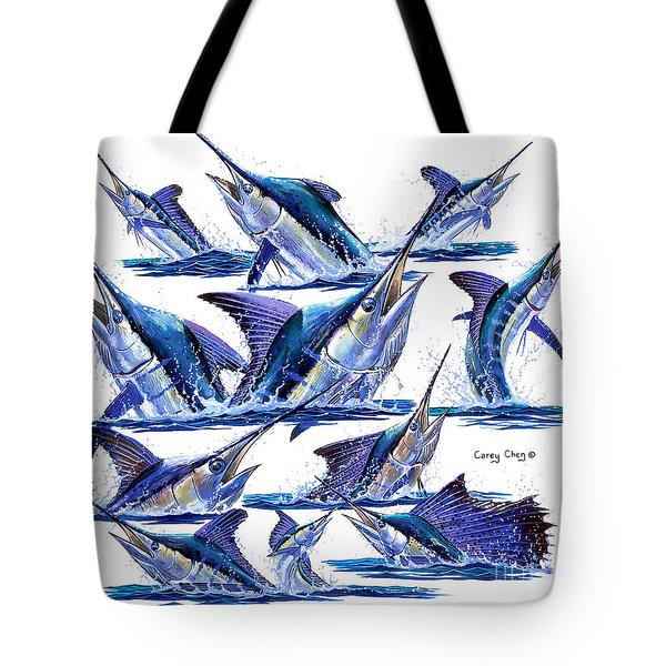 Bill Heads Tote Bag by Carey Chen
