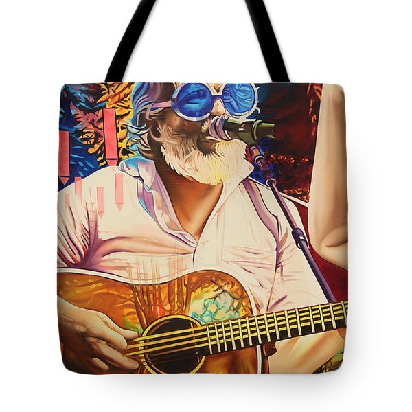 Tote Bag featuring the painting Bill Nershi At Horning's Hideout by Joshua Morton