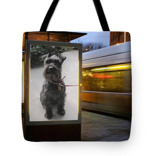 Tote Bag featuring the photograph Billboard Siren by Pat Purdy