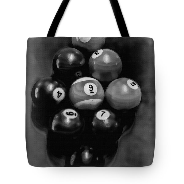 Billiards Art - Your Break - Bw  Tote Bag by Lesa Fine