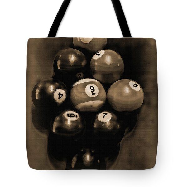 Billiards Art - Your Break - Bw Opal Tote Bag