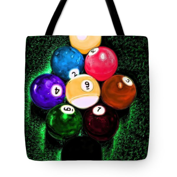 Billiards Art - Your Break Tote Bag by Lesa Fine