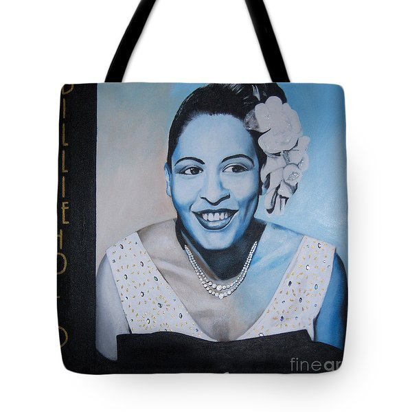 Billie Holiday Tote Bag by Chelle Brantley
