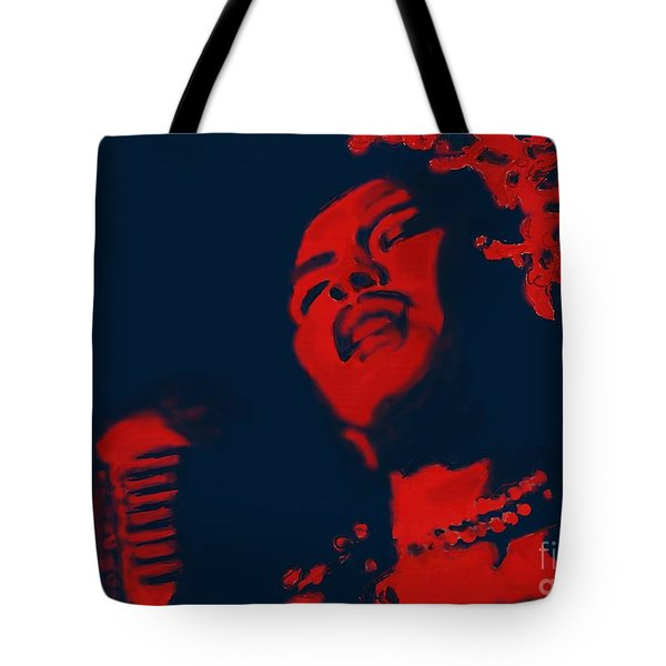 Billie Holiday Tote Bag by Vannetta Ferguson