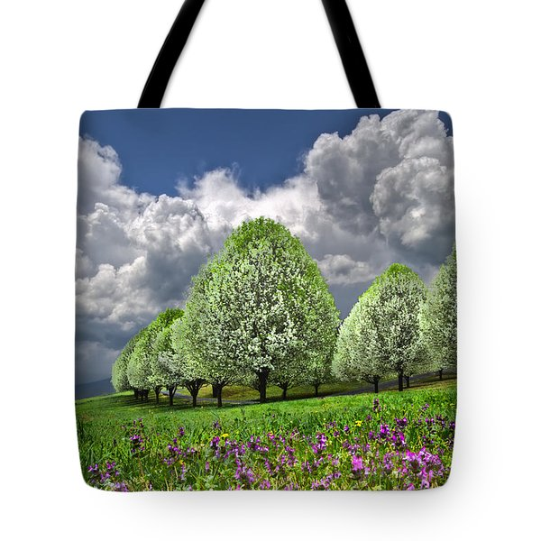 Billows Tote Bag by Debra and Dave Vanderlaan