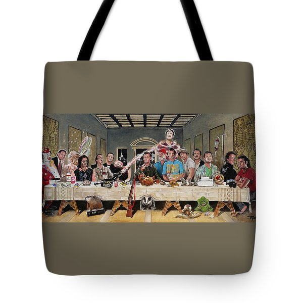 Bills Last Supper Tote Bag by Tom Carlton