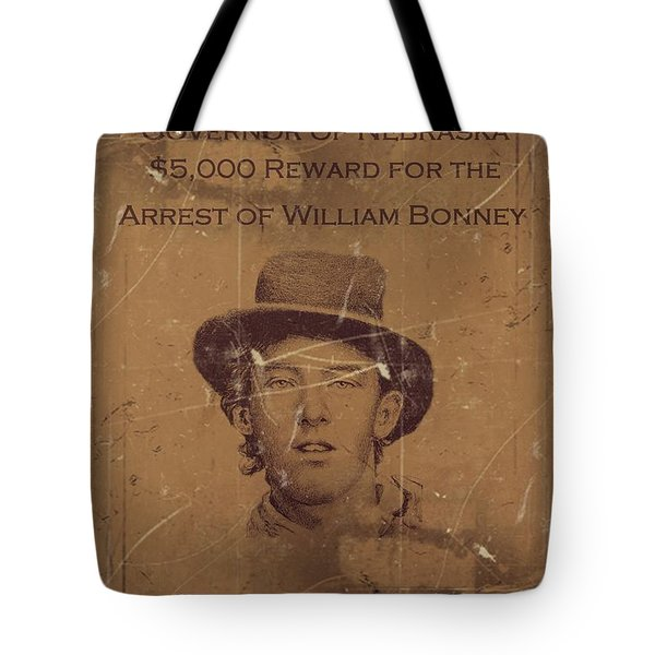 Billy The Kid Wanted Poster Tote Bag
