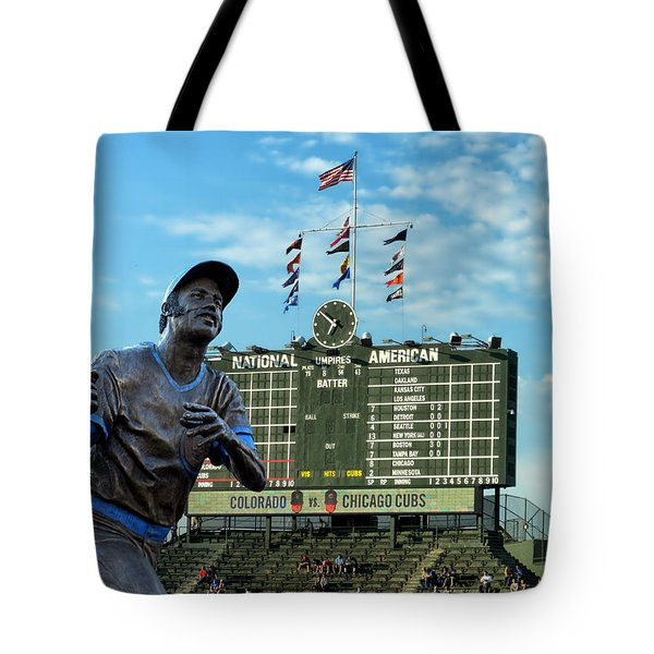 Billy Williams Chicago Cub Statue Tote Bag by Thomas Woolworth