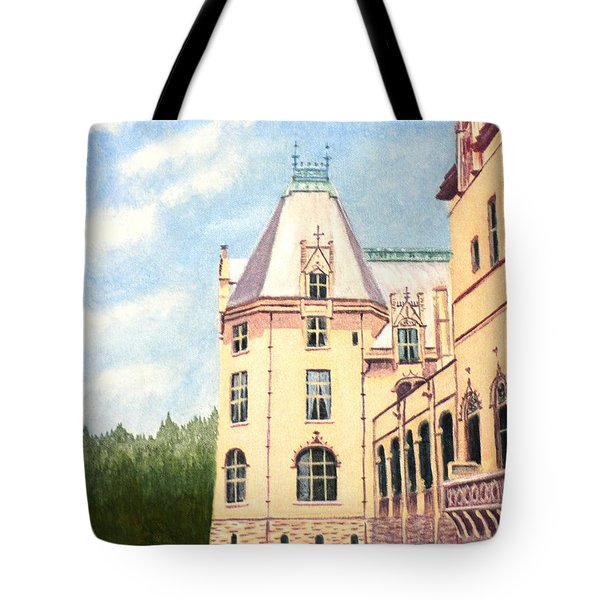 Tote Bag featuring the painting Biltmore Balcony by Stacy C Bottoms