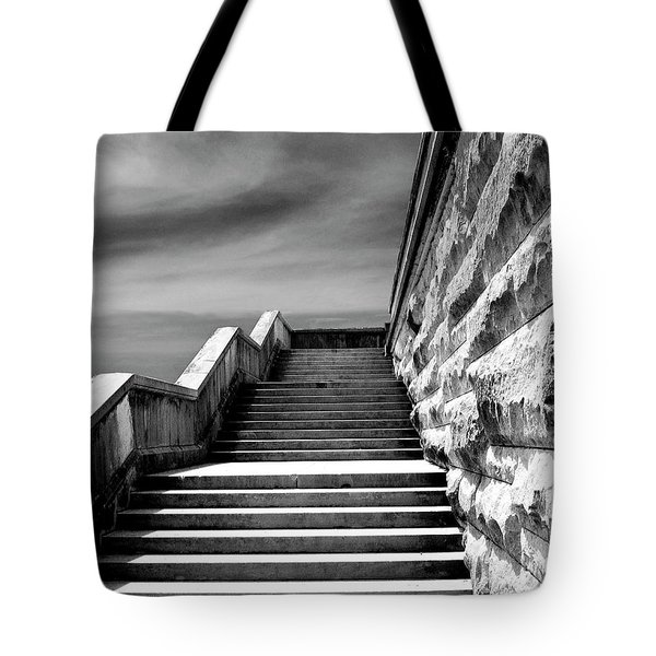 Biltmore Stairs Asheville Nc Tote Bag by William Dey